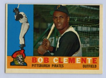 56. 1960 ROBERTO CLEMENTE TOPPS BASEBALL CARD #326