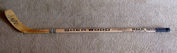 Pierre Larouche - Penguins, Montreal - game used stick - signed