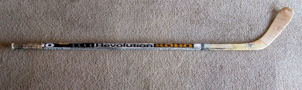 Phil Houseley - Winnipeg Jets - game used hockey stick - signed
