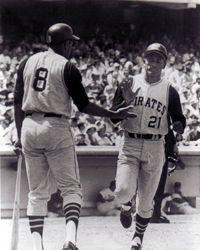 4. Willie Stargell & Roberto Clemente size 11x14 photo