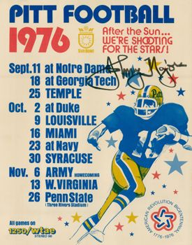 9. 1976 Pitt football 11x14 photo