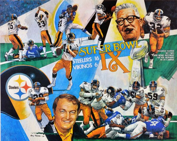 48. Pittsburgh Steelers Super Bowl IX collage 11x14 photo
