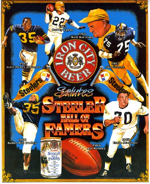 70. Steelers HOF'ers & Iron City Beer 11x14 photo