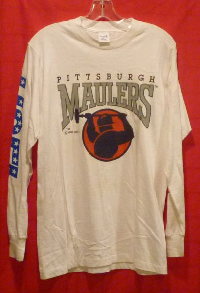 Pittsburgh Maulers long sleeve t-shirt USFL, size M