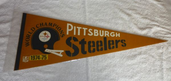 Super Bowl IX Pittsburgh Steelers full-size pennant