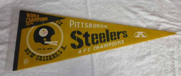 Super Bowl IX , AFC Champs Pittsburgh Steelers full-size pennant
