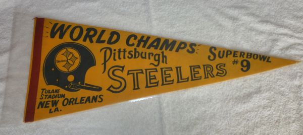 Super Bowl IX, Pittsburgh Steelers full-size pennant