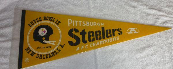 Pittsburgh Steelers Super Bowl IX full-size pennant