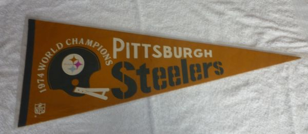 1974 Super Bowl IX Pittsburgh Steelers full-size pennant