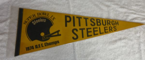 Pittsburgh Steelers Super Bowl IX full-size pennant