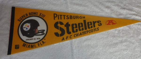 Pittsburgh Steelers Super Bowl XIII full-size pennant