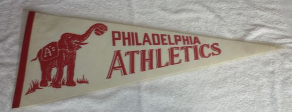 1950's - 60's Philadelphia Athletics full-size pennant