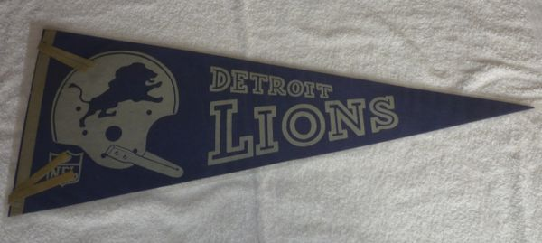1967 Detroit Lions full-size pennant