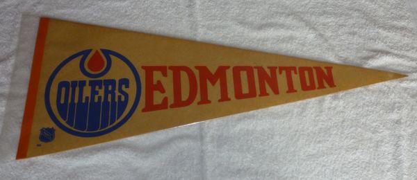 1960's - 70's Edmonton Oilers full-size pennant