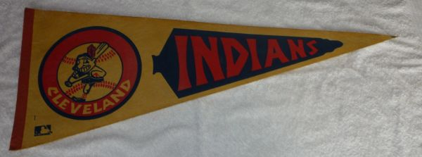 Vintage Cleveland Indians full-size pennant