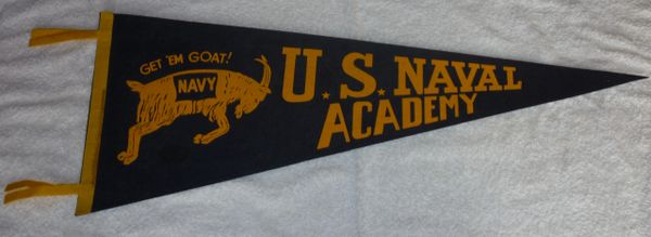 Vintage U.S. Naval Academy full-size pennant