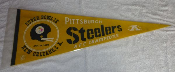 Pittsburgh Steelers Super Bowl IX full size pennant