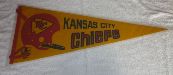 1967 Kansas City Chiefs full-size pennant