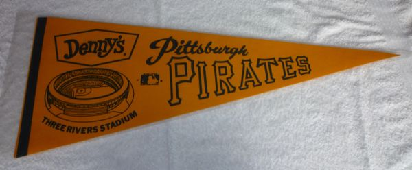 1970's Denny's Pittsburgh Pirates full-size pennant