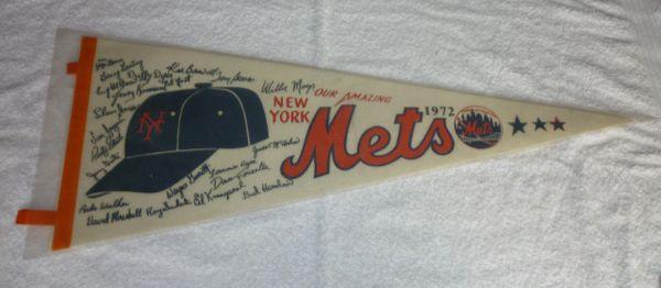 1972 New york Mets full-size pennant