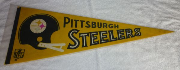 Late 60's - 1970's Pittsburgh Steelers full-size pennant