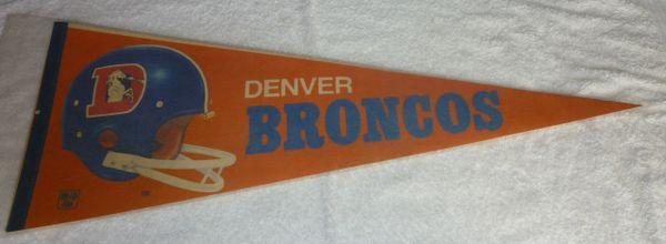 1970's Denver Broncos full-size pennant