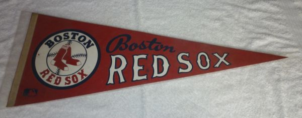Vintage Boston Red Sox full-size pennant
