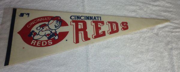 Late 60's - 70's Cincinnati Reds full-size pennant
