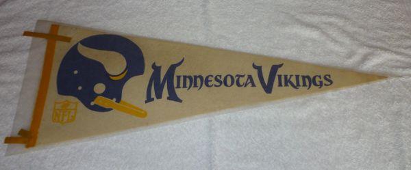 Vintage Minnesota Vikings full-size pennant