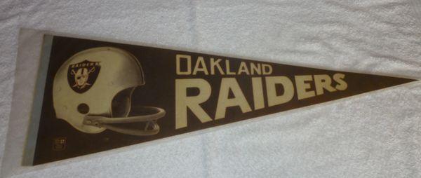 1970's Oakland Raiders full-size pennant
