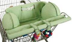 Leachco Prop 'R Shopper Shopping Cart Cover Sage Pin Dot
