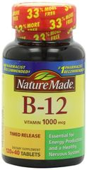 Nature Made Vitamin B-12 Timed Release Tablets 1000 Mcg 160 Count