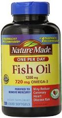 Nature Made (One a Day) Fish Oil 1200mg 120-Count