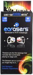 Earasers Musician's Hifi Earplugs- Large