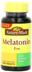 Nature Made Melatonin Tablets Value Size 3 Mg 240 Count