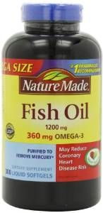 Nature Made Fish Oil Omega-3 1200mg 300 Softgels