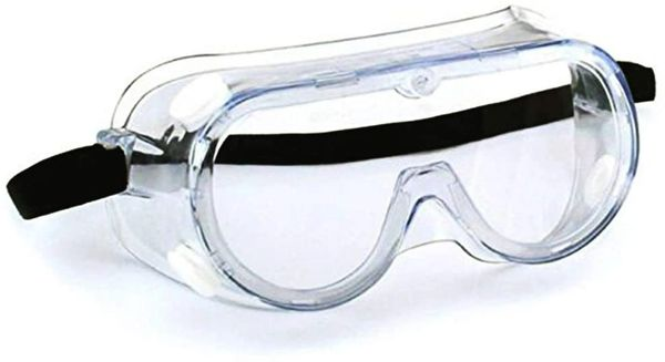 Anti-Fog Protective Safety Goggles Clear Lens Wide-Vision Adjustable Chemical Splash Eye Protection Soft Lightweight Eyewear