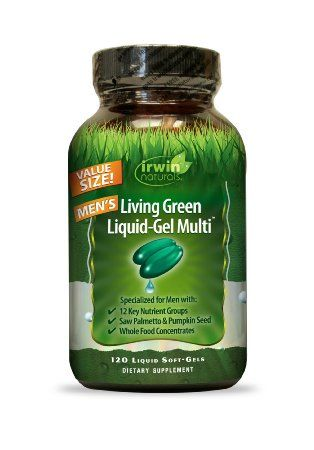 Irwin Naturals Living Green Multi Liquid-Gel for Men 120 Count
