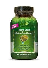 Irwin Naturals Ginkgo Smart Economy Diet Supplement, 120 Count