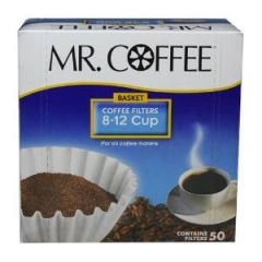 Mr. Coffee Basket Coffee Filters, 8-12 Cup 50-Count Boxes (Pack of 12)