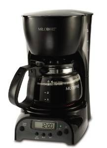 Mr. Coffee Cup Programmable Coffeemaker Black