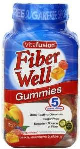 Vitafusion Fiber Gummies Sugar Free, 90-Count Bottle