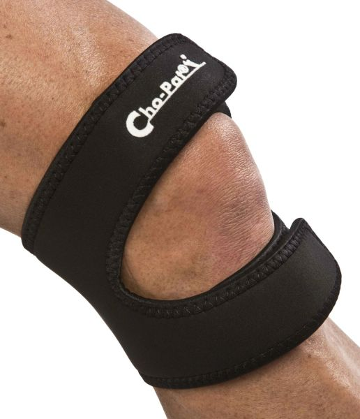 Cho-Pat Dual Action Knee Strap Black Medium 14 Inch-16 Inch