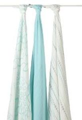 Aden + Anais Swaddle Blanket Bamboo Rayon 3 count Azure