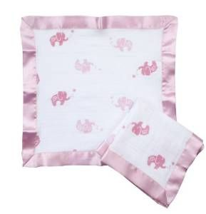 Aden by aden + anais 2 Pack Muslin Security Blanket Girls And Swirls
