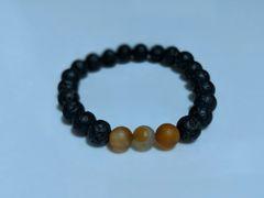 Carnelian & Lava Essential oil diffusing bracelet