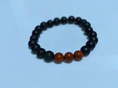 Red Jasper & Lava Essential Oil Diffusing Bracelet