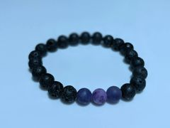 Amethyst & Purple Jasper Essential Oil Diffusing Bracelet