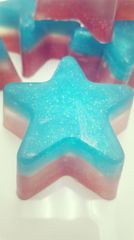 Patriot Red, white and blue aromatherapy glycerine soap