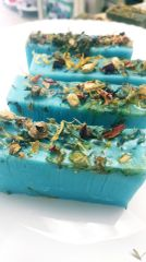 Relax Aromatherapy and dried flower Glycerine Soap Bar